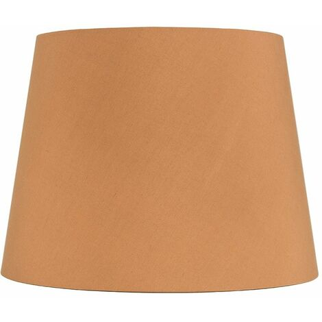 Table / Floor Lamp Light Shade In A Spiced Honey Fabric Finish