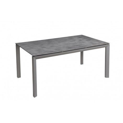 TABLE GREGGIA 160 HPL BETON TOUCH coloris gris platinium