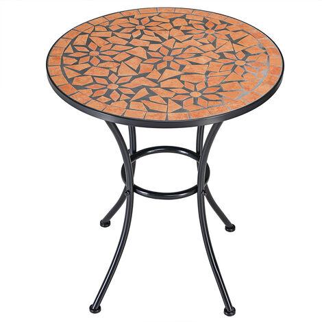 Table guéridon mosaïque et fer forgé ROMALuxus Mosaiktisch ROMA Beistelltisch Mosaik Tisch NEU