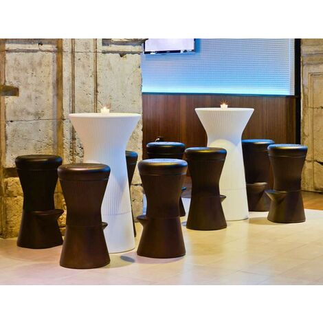 """main image of """"Table haute bar 110 MOOVERE blanc opaque"""""""