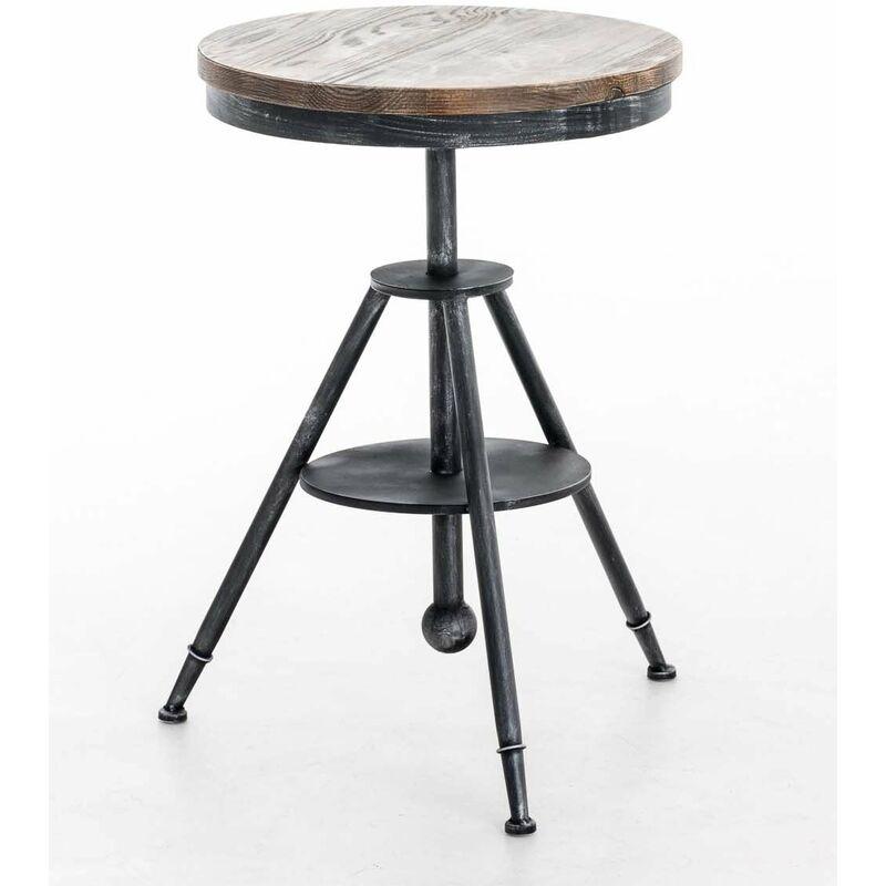 table haute bistrot style industriel hauteur réglable argenté