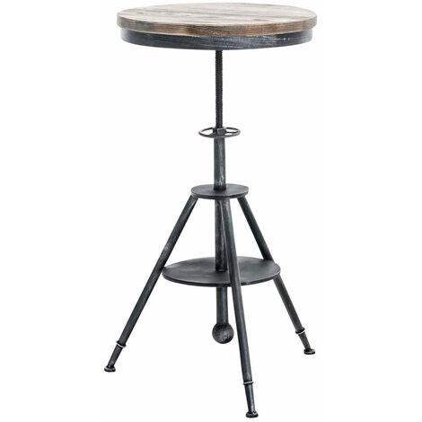 Table haute bistrot style industriel hauteur réglable argenté vieilli - argentéer