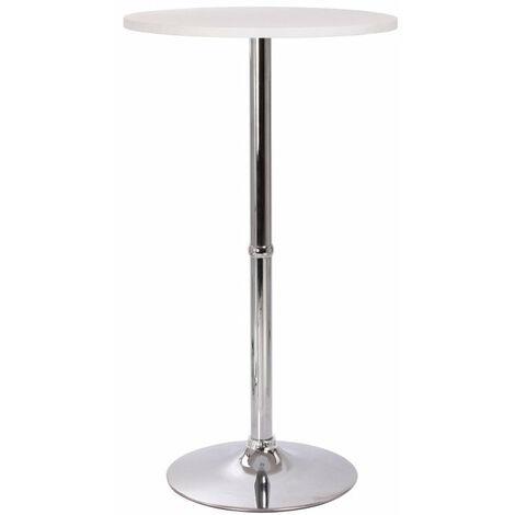 Table haute de bar bistrot blanc 108cm - blante