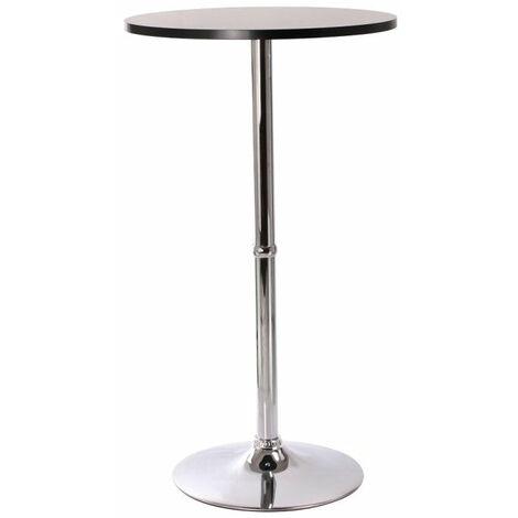 Table haute de bar bistrot noir 108cm - noir