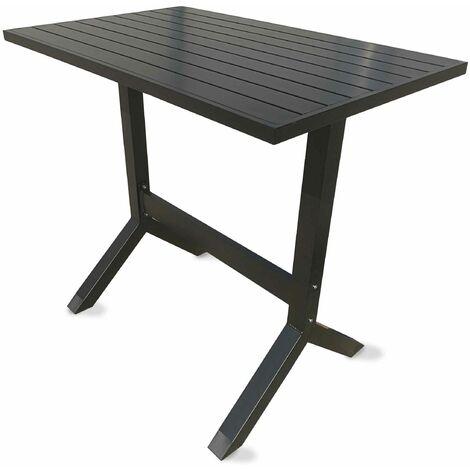 Table haute de jardin en aluminium Indus - Gris