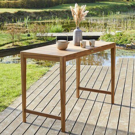 Table haute de jardin en teck 150 - Naturel