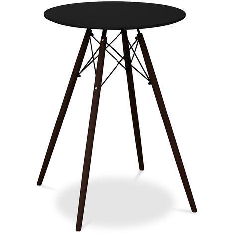 Table haute Deswick pour Tabouret de bar Piètement foncé Noir