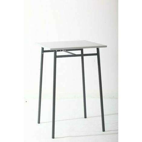 Table haute d'extérieur Hespéride Cayey gris - Gris