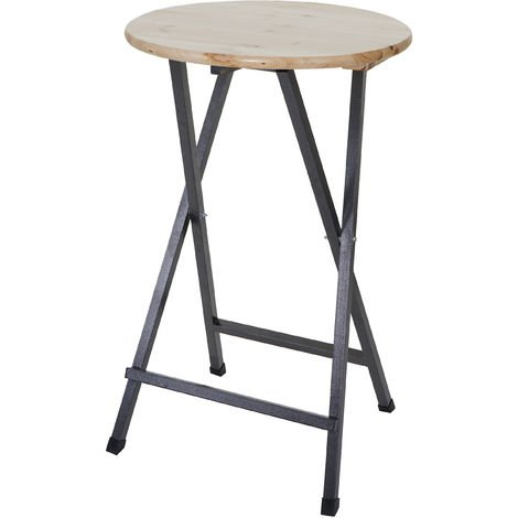Table haute HHG-021, pin, bois massif laqué, 110x70cm