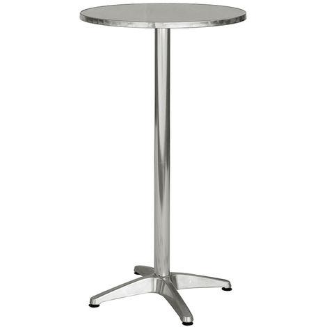 Table haute mange debout avec plateau en acier- A USAGE PROFESSIONNEL - Dim : H 110 x Ø 60 cm