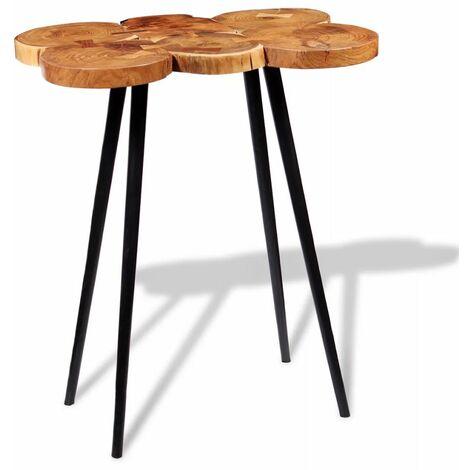 Table haute mange debout bar bistrot bois d'acacia massif 110 cm - Bois