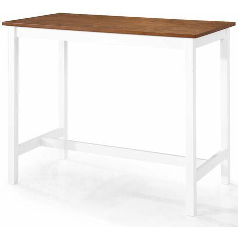 Table haute mange debout bar bistrot bois massif 108 cm - Noir