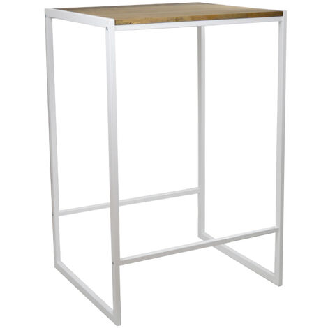 Table haute – Mange debout Icub industriel vintage 60x70x107cm Blanc