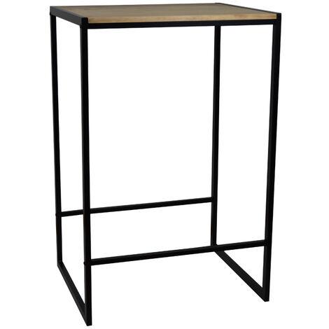 Table haute – Mange debout Icub industriel vintage 60x70x107cm Noir