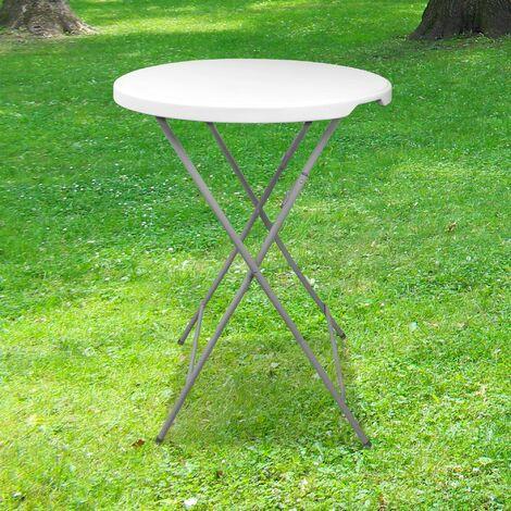 """main image of """"Table Haute Mange Debout Pliante Grand Plateau 80 cm - Hauteur 1,10M - Table Pliante Mange Debout Grande Capacité idéal pour Cérémonies et Mariages - Blanc"""""""
