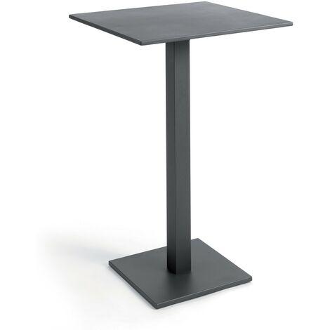 Table haute pliante carrée 70 cm alu Otrante