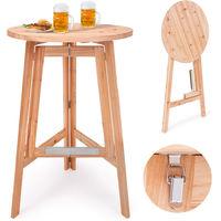Table Haute Table Bar Massive En Bois Pliable