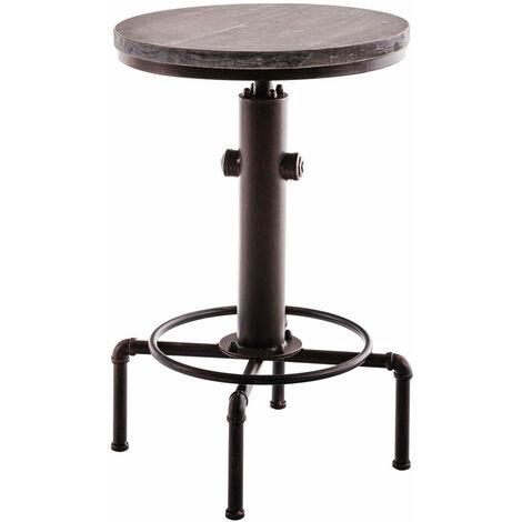 Table haute table de bar style industriel hauteur réglable bronze vieilli - noir
