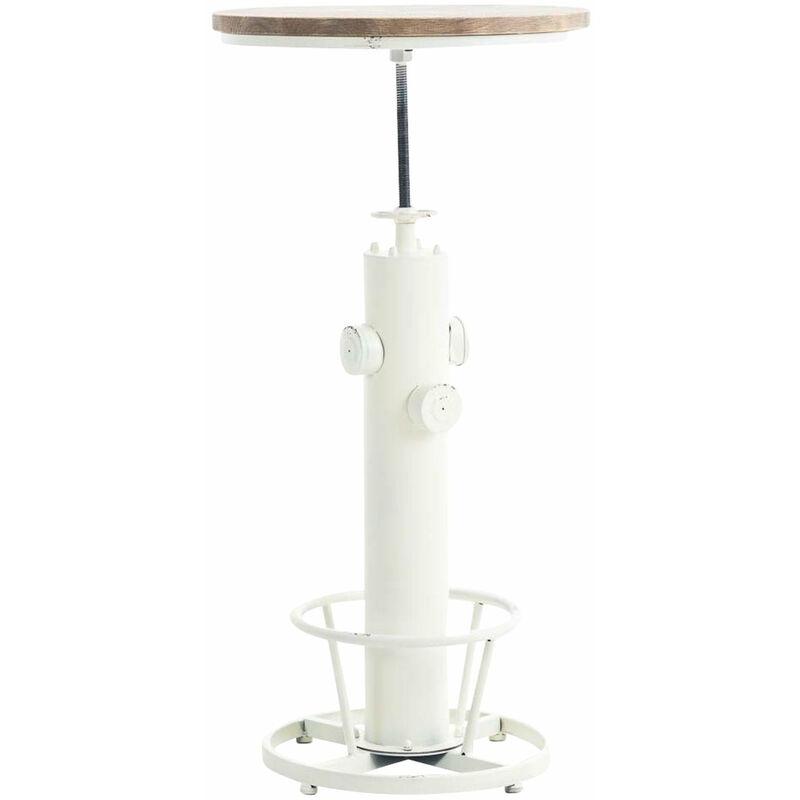 Table Haute Table De Bar Style Industriel Hauteur Reglable Repose
