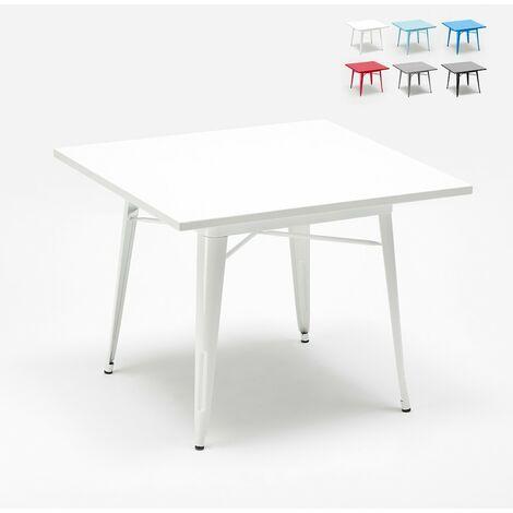Table industrielle en acier Tolix 80x80 pour bar et maison Dynamite