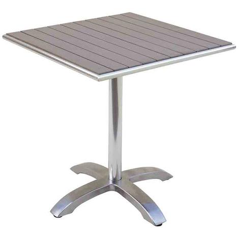 R Plateau Jardin Avec L Aluminium En 70 P Havane X Table sine Cm 72 Coloris DimH Wood iukZPX