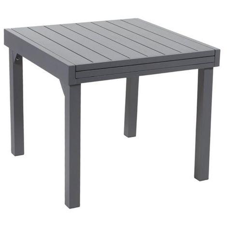 Table jardin full aluminium Modulo 90 à 180 cm - 600250
