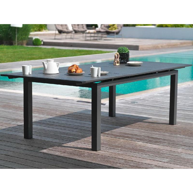 Table 240300x100x73cm Gris Jardin Aluminium Miami 0ZwON8nPkX