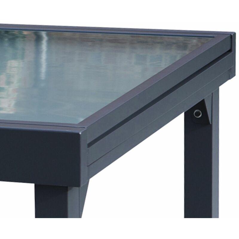 Table Jardin Modulo 6 A 10 Personnes Gris 600019