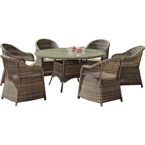 Conjunto de muebles de jardín de resina