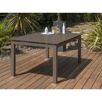 Table jardin ZAHARA alu rallonge 180/240x100x73cm Sable