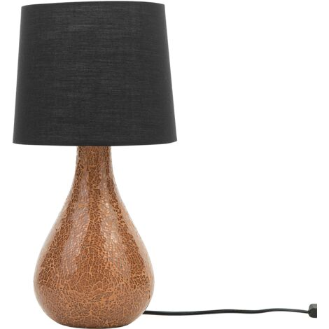 Table Lamp Black and Copper ABRAMS