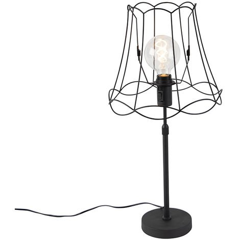 Table lamp black with Granny Frame 30 cm adjustable - Parte