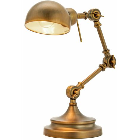 Table Lamp 'Ellisen' (antique, vintage) in Bronze made of Metal (1 light source, E14, A++) from Lindby | Desk Lamps