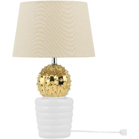 Table Lamp Gold and White VELISE