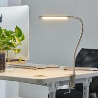 """Table Lamp """"Lionard"""" (modern) in Silver made of Metal (1 light source, A+) from Lampenwelt"""