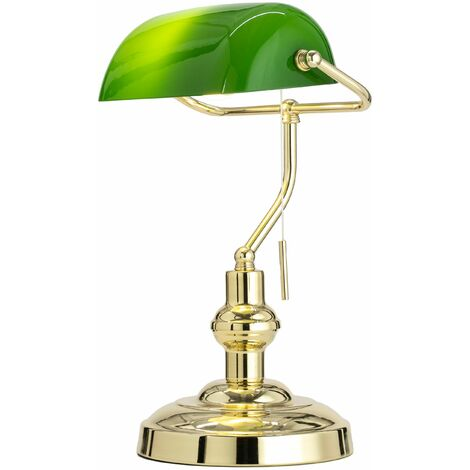 Table Lamp 'Milenka' (antique, vintage) in Gold made of Metal (1 light source, E27, A++) from Lindby | Desk Lamps