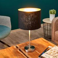 """Table Lamp """"Salma"""" (young lifestyle) in Black made of Textile (1 light source, E27, A++) from Lampenwelt"""