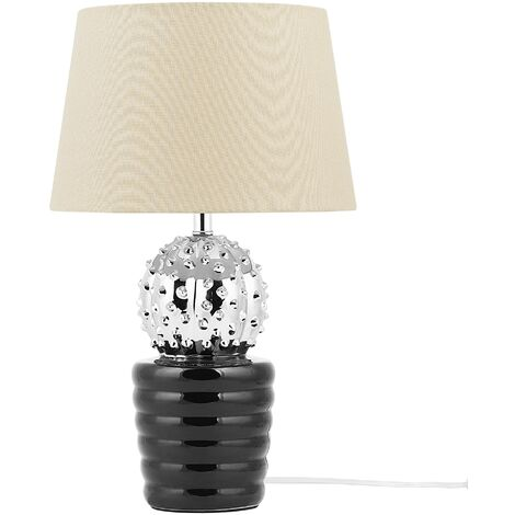 Table Lamp Silver and Black VELISE