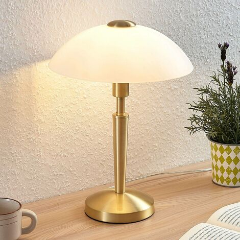 Table Lamp 'Tibby' (antique, vintage) in Gold made of Metal (1 light source, E14, A++) from Lindby | windowsill lamp, lamps & lights for windows