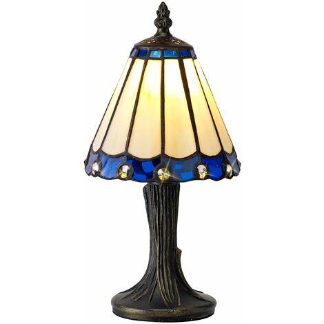 Table lamp Tiffany Calais 1 Bulb Blue 16 Cm