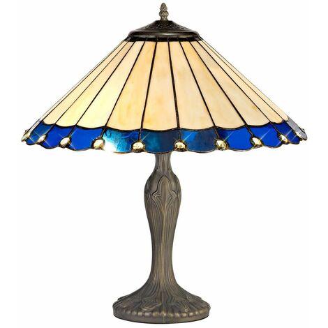 Table lamp Tiffany Calais 2 Bulbs Blue 40 Cm