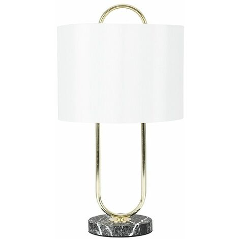Table Lamps Marble Effect Chrome Gold Light Lampshades