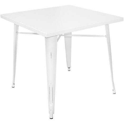 TABLE LANK OLD BLANCHE 80 CM X 80 CM X 76 CM