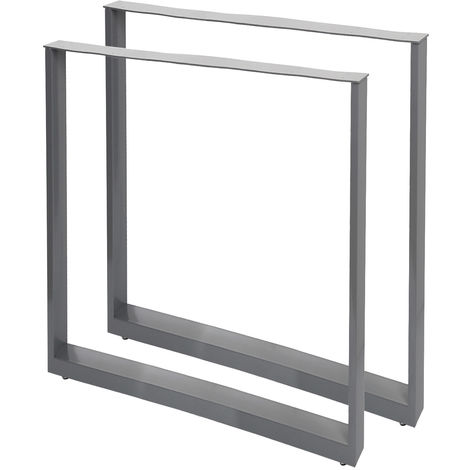 Table Legs Industrial Design 60x72cm Grey Powder-Coating for Tables and Benches