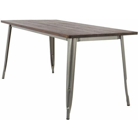 Table LIX Brossée en Bois (160x80)