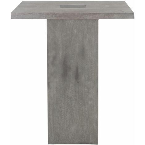 Table mange debout carré - effet ciment - Gris clair