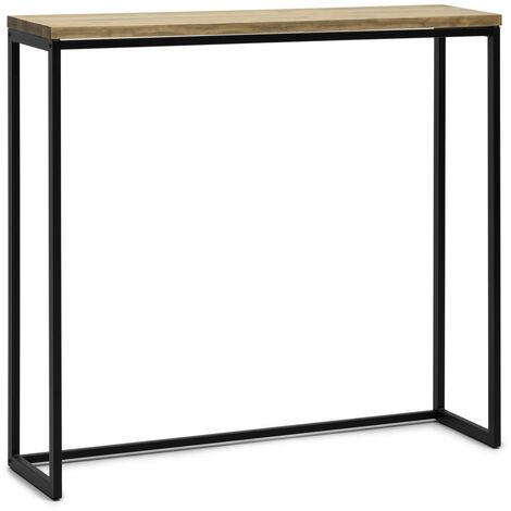 Table Mange debout Icub - industriel vintage 30x120x110 cm Noir