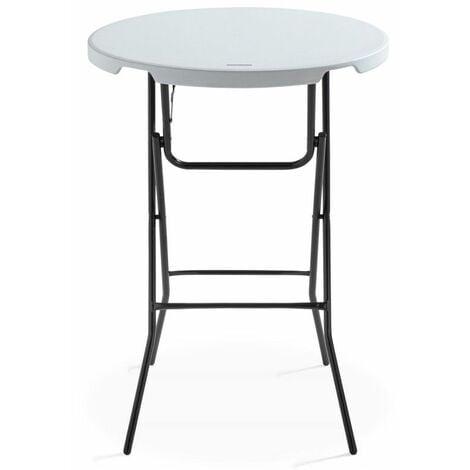 Table mange-debout pliante