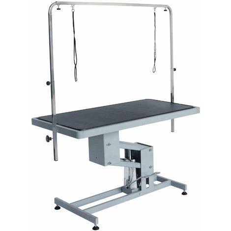 """Table mecanique """"pluton"""" gris martele"""