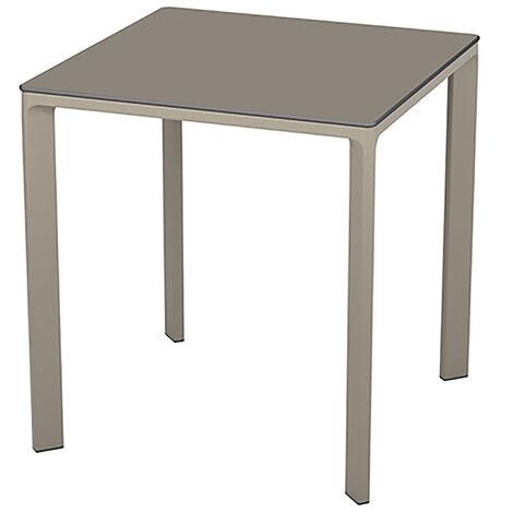 TABLE MEET 70X70 TAUPE - EZPELETA